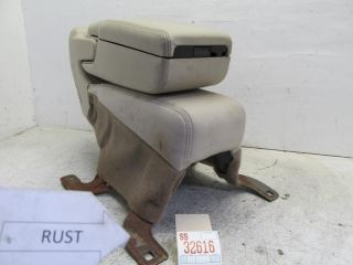 Front Seat Center Console Armrest Arm Rest Storage Leather Tan