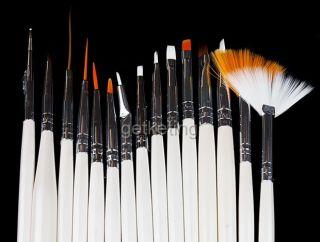 15 Pcs Nail Art Brushes Design Polish Brush Painting Drawing Pen Set