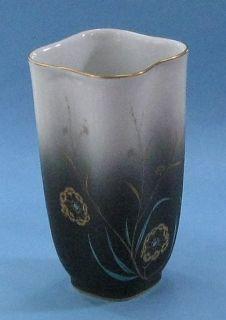 Art Deco Stockmayer Gold Chinese Cattails Antique Porcelain Asian Vase