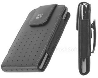 Leather Vertical Case Pouch for Apple iPhone 5 Black Holster Belt Clip