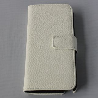 Folio Leather Case Cover for Apple iPod Touch 5 5g 5th Gen White