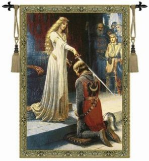 Arte Arazzo The Accolade Medieval Tapestry Wall Hanging