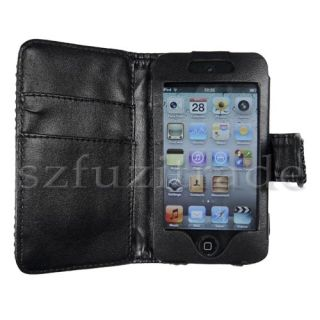Wallet Leather Case for Apple iPod Touch 4 4th Generation
