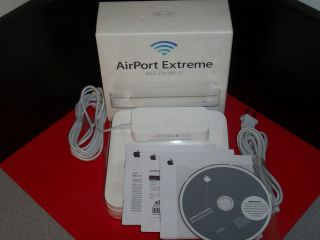 Apple AirPort Extreme 54 Mbps 3 Port Gigabit Wireless N Router MC340LL