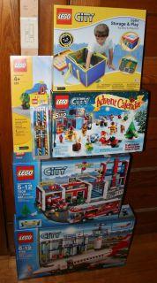 Lego City Lot 3182 Airport 7208 Fire Station Storage Bin 628 Grey