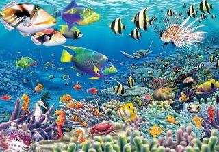 Tropical Fish Reef Aquarium Wall 8 5x12 Wallpaper Wall Decor Mural