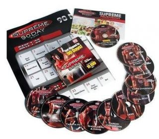 As Seen On TV Supreme 90 Day Insane Abs Workout System 10 DVD Fitness