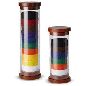 and Wood Cylinder Martial Arts Belt Display holds 10 belts New karate