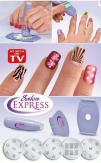 Salon Express As Seen On TV Nail Art Stamp Stamping Kit Manicure