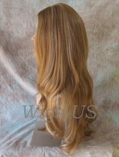 Wigs Strawberry Pale Blond Extra Long Full Skin Top Wig