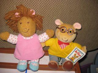 Arthur and D w Stuffed Plush Dolls Arthur New with Tags