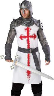 Medieval Knight King Arthur Crusader Halloween Costume