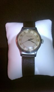 Mens Vintage Jaeger LeCoultre 1940s WWII Era Military Style Manual