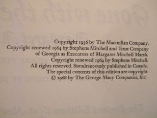 Club Gone with The Wind by Margaret Mitchell Signed by Artist