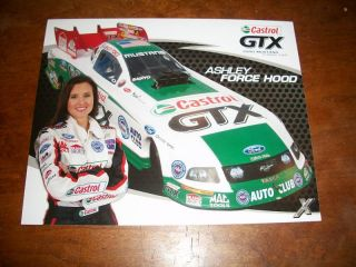 Ashley Force 2009 Castrol GTX NHRA Handout Postcard