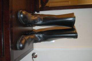 Vintage Ashman Cafe Racer Motorcycle Boots