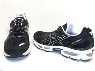 Brand New Asics Mens Gel Nimbus 13 Running Shoe Black White Size 13