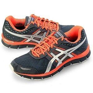 Asics Mens Gel Blur 33 Running Shoes Storm Lightning Neon Orange T1H3N