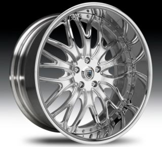 22 asanti AF147 Chrome Wheels Rims 2 Piece