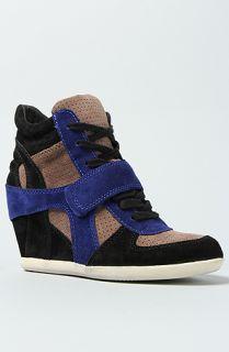 Karmaloop Ash Shoes The Bowie Mul Sneaker Black & Blue Multi