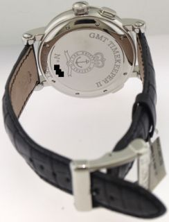 Arnold Son GMT Timekeeper II GMT Day Date Automatic Watch 1G2AS B01A