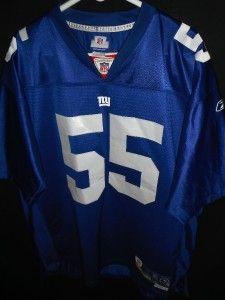 Mens XL Sewn EC Authentic 55 L Arrington New York Giants NFL Jersey