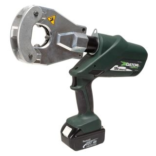 Point L Series battery powered crimping tool, flip top head dieless