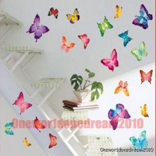 Butterfly Lot Art Deco Wall Sticker Paper Decal LH964