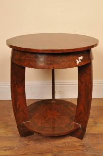 Art Deco Walnut Side Table Occassional Furniture