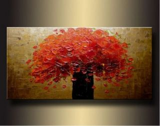 Abstract Oil Painting Tree Large Wall Art on Canvas No Frame