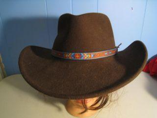 Adults Medium Renegade Artesia Chocolate Cowboy Western Hat Indian