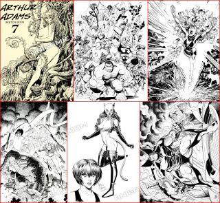 Arthur Adams Zatanna x Men Batman Hulk 2008 Sketchbook