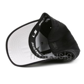Atlanta Braves Flex Fit Baseball Cap Hat MB All Black