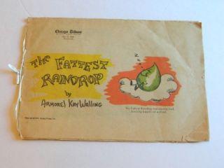 Vintage 1969 Chicago Tribune Childrens Book *The Fattest Raindrop* By