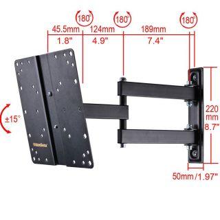 ARTICULATING ARM SWIVEL TILT LCD LED TV WALL MOUNT 23 24 26 30 32 36
