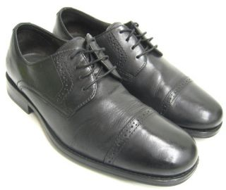 Murphy Mens Shoes Black Leather Atchison Cap Toe Oxfords 8 5 M