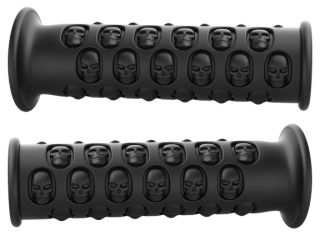 Black Yamaha Raptor 250 350 660 700 ATV Skull Grips