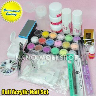 Premium Acrylic Nail Art Liquid Powder Full Kit 555