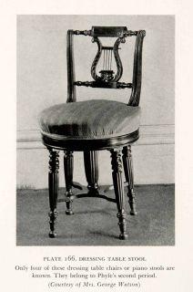 Dressing Table Stool Chair Lyre Duncan Phyfe Furniture Maker Artisan