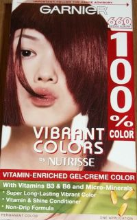 Vibrant Colors Gel Creme Hair Dye 100 Color 660 Intense Auburn
