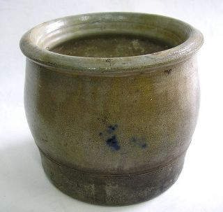 Small Cache Pot French Alsacien Alsace Gres Blue Bird