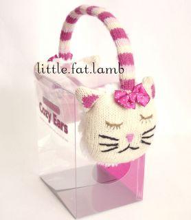 Aroma Home Knitted Cozy Ears Animal Kitty Cat Earmuffs Earwarmers w