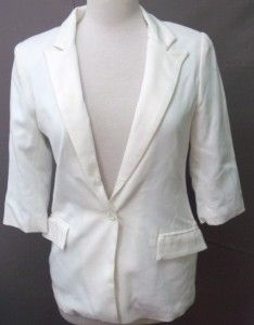 aryn k ladies white coat size medium
