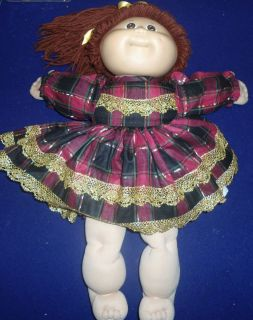 PATCH KIDS DOLLS APPALACHIAN ARTS HANDMADE CLOTHES AUBURN BROWN HAIR