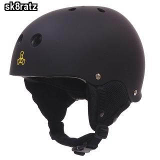 Black Old School Snow Helmet with Audio System Snowboarding Ski