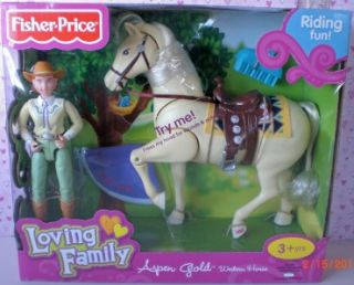 Fisher Price Loving Family New in Box Aspen Gold Horse