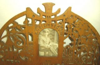 Antique Folk Art Frame for 5 Picture 1914 WW I