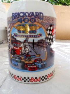 Anheuser Busch Bud August 5 1995 Brickyard 400 Stein Mug 2
