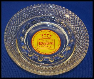 Vintage Best Western Hotel Bubble Drop Clear Glass Ashtray ★ Free