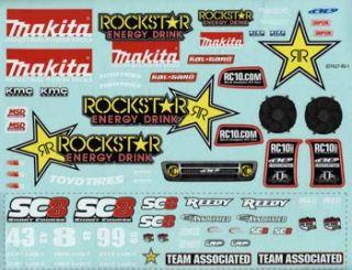 Team Associated AE 89458 Decal Sheet Rockstar Makita SC8E